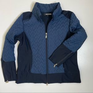 Anatomie Full Zip Quilted Travel Jacket Navy L